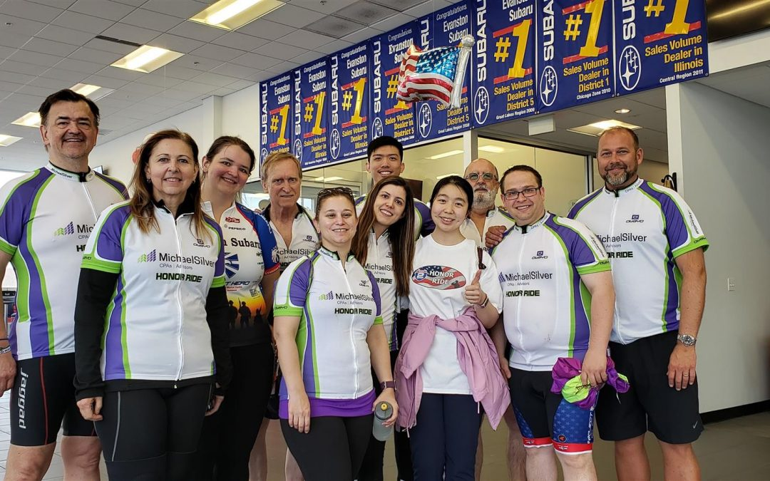 Team MichaelSilver is the Top Fundraising Team for the 2019 Chicago Honor Ride